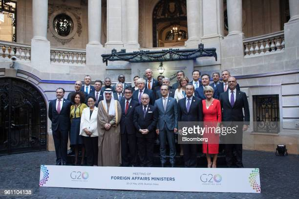 Luis Videgaray Mexico's foreign minister from front left Lindiwe Sisulu South Africa's minister of international relations and cooperation Retno...