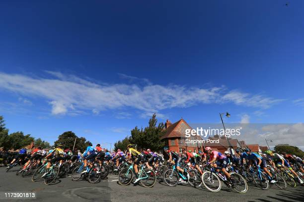 Luis Villalobos of Mexico and EF Education First Pro Cycling / Dylan Groenewegen of The Netherlands and Team Jumbo _ Visma Cycling / Eddie Dunbar of...