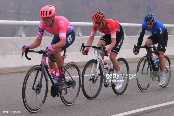 Luis Villalobos of Mexico and Team EF Pro Cycling / Maxime Bouet of France and Team Arkéa Samsic / Danilo Wyss of Switzerland and Team NTT Pro...