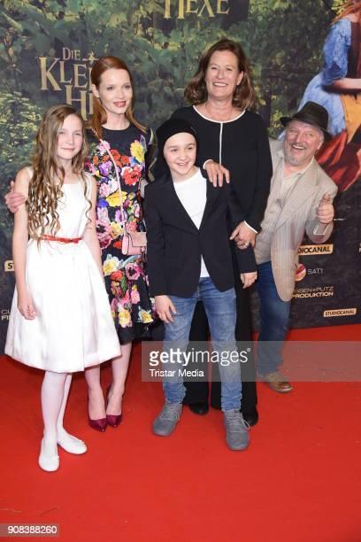Luis Vorbach Karoline Herfurth Suzanne von Borsody Momo Beier and Axel Prahl attends the 'Die kleine Hexe' Premiere at Mathaeser Filmpalast on...