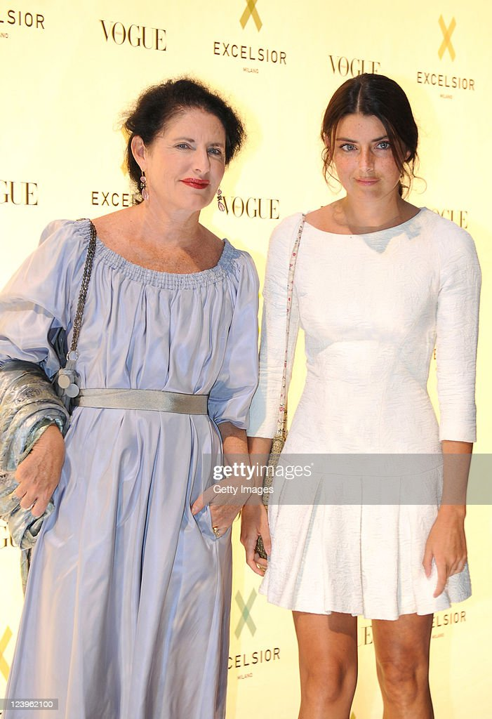Luisa Beccaria and her daughter Lucilla Bonaccorsi attend the opening cocktail party of Excelsior Milano on September 6, 2011 in Milan, Italy.