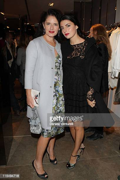 Luisa Beccaria and Lucilla Bonaccorsi attend John Richmond Cocktail as part of the Paris Womenswear Fashion Week Spring/Summer 2010 at John Richmond...