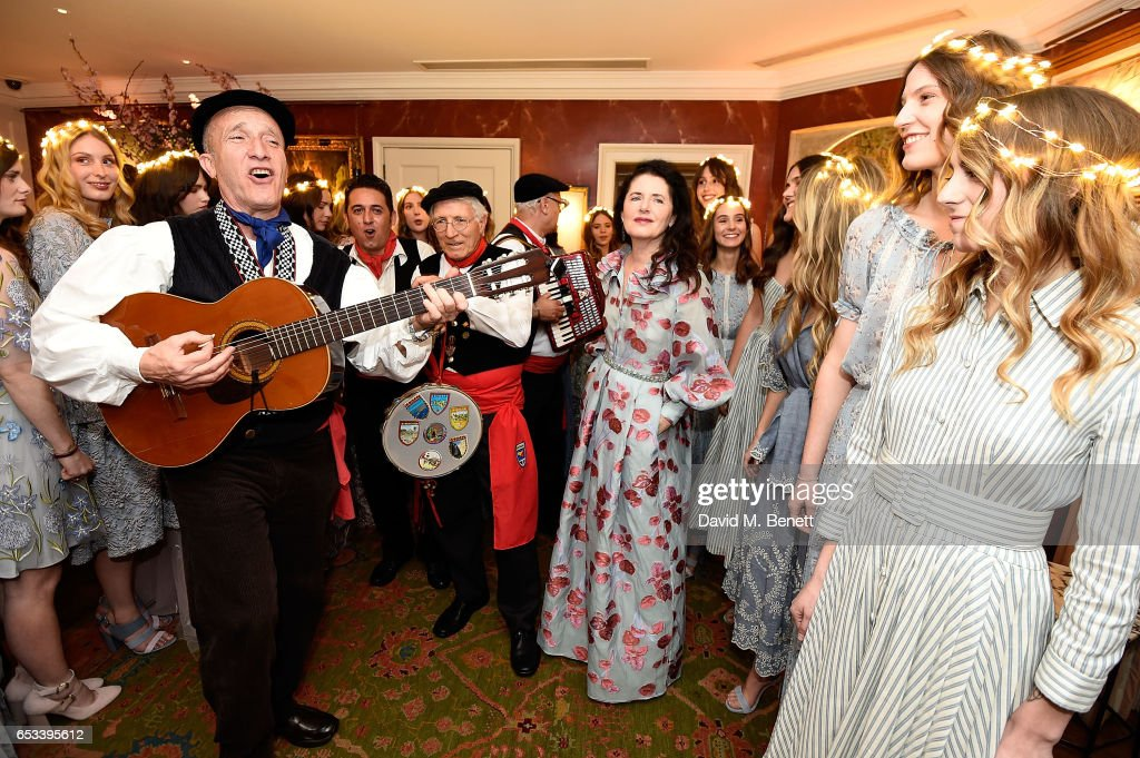 Luisa Beccaria (C) attends the Luisa Beccaria and Robin Birley event celebrating Sicilian lifestyle, music and fashion at 'Upstairs', at 5 Hertford Street on March 14, 2017 in London, England.