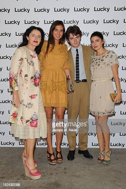 Luisa Beccaria, Ludovico Beccaria and Lucilla Beccaria attend Lucky Magazine Celebrates Italian Fashion on September 20, 2012 in Milan, Italy.