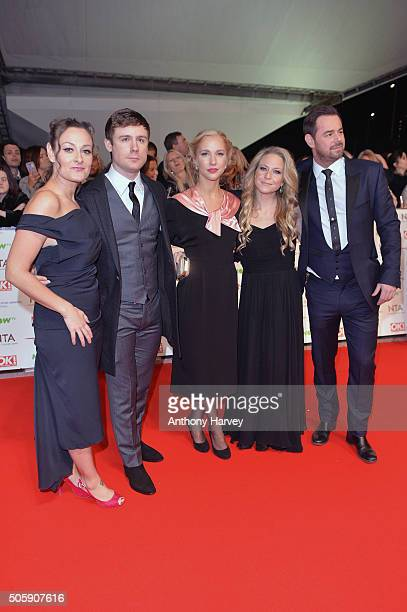 Luisa BradshawWhite DannyBoy Hatchard Maddy Hill Kellie Bright and Danny Dyer attend the 21st National Television Awards at The O2 Arena on January...