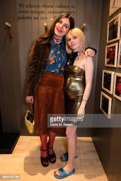 Luisa Couyet and Scarlett Carlos Clarke attend the John Smedley x Greta Bellamacina evening of poetry in association with Wonderland Magazine at John...