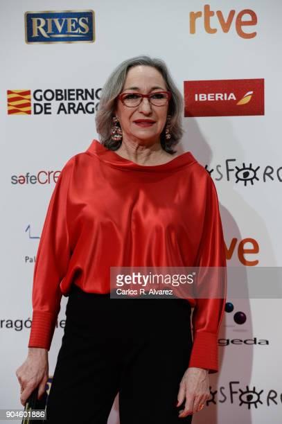 Luisa Gavasa during the 23rd edition of Jose Maria Forque Awards at Palacio de Congresos on January 13 2018 in Zaragoza Spain