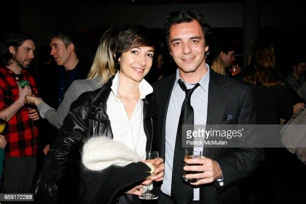Luisa Gui and Alexander Kellas attend MoMA celebrates MARTIN KIPPENBERGER THE PROBLEM PERSPECTIVE WITH A RECEPTION at MoMa on February 24 2009 in New...