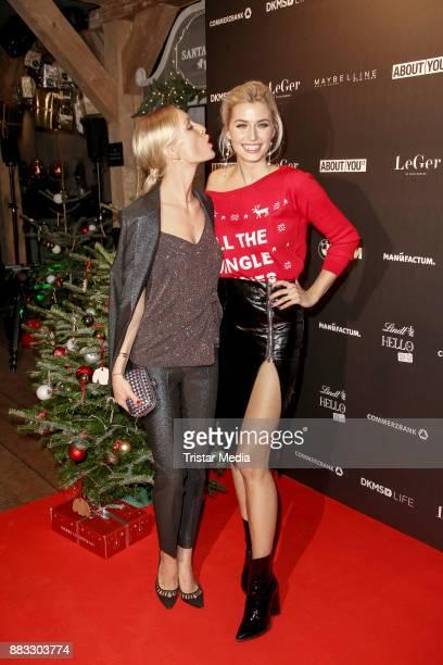 Luisa Hartema and Lena Gercke during Lena Gerckes Christmas Dinner Partyat Hygge on November 30, 2017 in Hamburg, Germany.