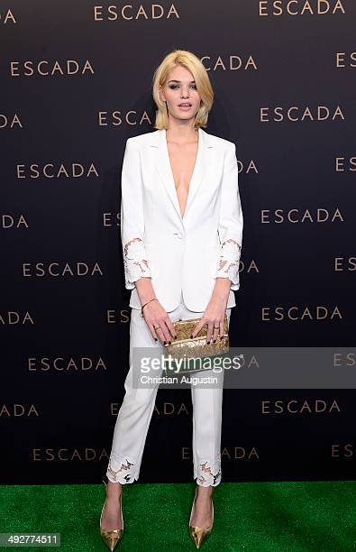 Luisa Hartema attends Escada Flagshipstore Opening at Kaisergalerie on May 21 2014 in Hamburg Germany