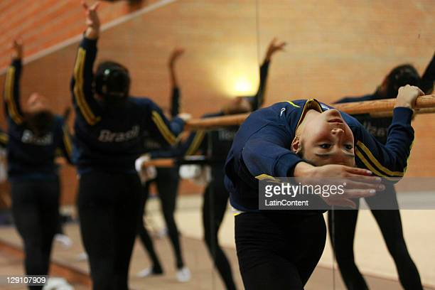 Luisa Matsuo of the Brazilian National Team of Rhythmic Gymnastic during a trainning session before the 2011 XVI Pan American Games at Nissan Complex...