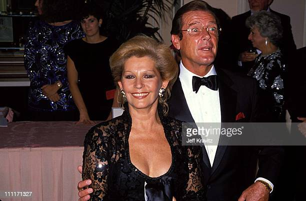 Luisa Mattioli Roger Moore during Tribute to Cary Grant in Beverly Hills California United States
