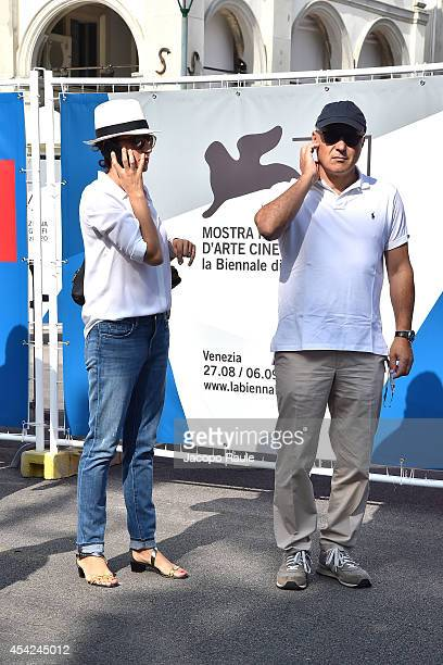 Luisa Ranieri and Luca Zingaretti are seen during The 71st Venice International Film Festival on August 27 2014 in Venice Italy