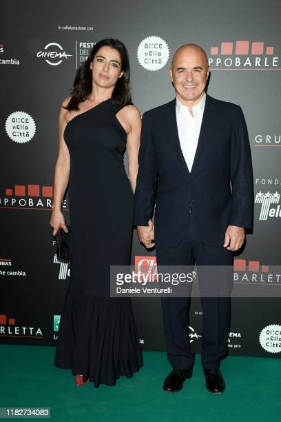 Luisa Ranieri and Luca Zingaretti attend the Telethon dinner during the 14th Rome Film Festival on October 22 2019 in Rome Italy