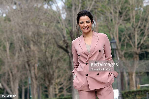 Luisa Ranieri attends a photocall for 'Luisa Spagnoli' Tv Series on January 27 2016 in Rome Italy