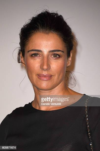 Luisa Ranieri attends 'Culture CHANEL' exhibition opening at The International Gallery of Modern Art Ca' Pesaro on September 15 2016 in Venice Italy