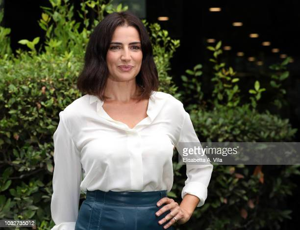 Luisa Ranieri attends La Vita Promessa photocall at Rai Viale Mazzini on September 13 2018 in Rome Italy