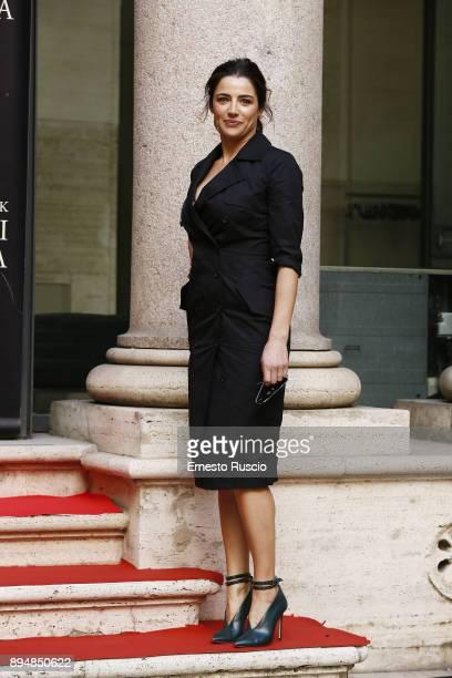 Luisa Ranieri attends Napoli Velata photocall on December 18 2017 in Rome Italy