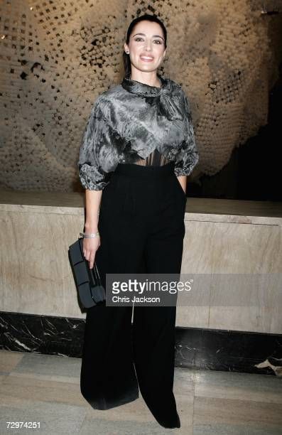 Luisa Ranieri attends the Fendi party celebrating the Loris Cecchini Empty Walls Just Doors exhibition at the Palais de Tokyo January 10 2006 in...