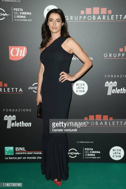 Luisa Ranieri attends the Telethon dinner during the 14th Rome Film Festival on October 22, 2019 in Rome, Italy.