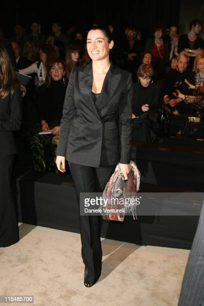Luisa Ranieri during Milan Fashion Week Fall/Winter 2007 Just Cavalli Front Row and Backstage in Milan Italy