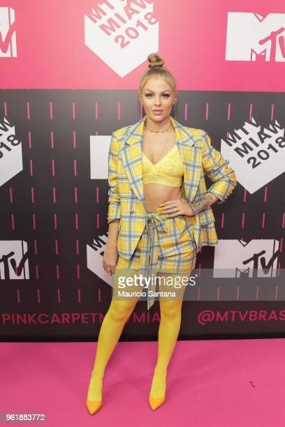 Luisa Sonza attends the MTV MIAW 2018 at Citibank Hall on May 23 2018 in Sao Paulo Brazil