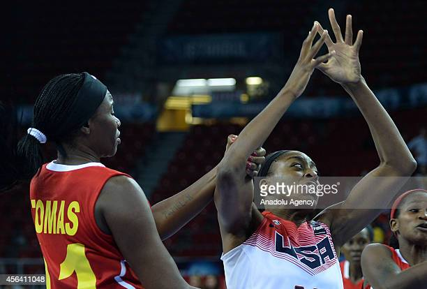 Luisa Tomas of Angola in action during the 2014 FIBA World Championship For Women Group D basketball match between Angola and USA at Abdi Ipekci...