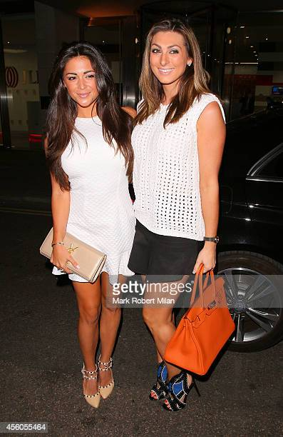 Luisa Zissman and Casey Batchelor at The Sanctum Hotel for the Union J fragrance launch party on September 24 2014 in London England