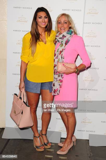 Luisa Zissman and her mother attending the Baileys Feaster Egg Hunt at Harvey Nichols in London