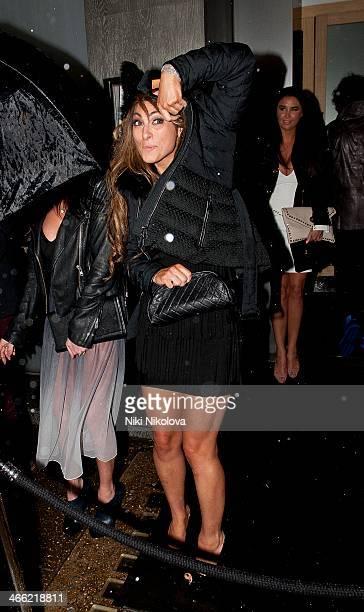 Luisa Zissman is seen leaving Nobu restaurant Mayfair on January 31 2014 in London England