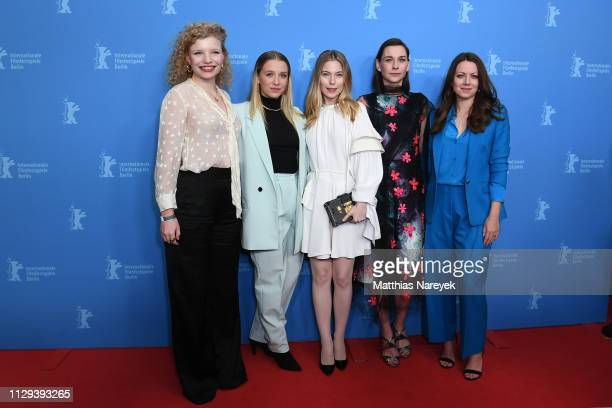 LuisaCeline Gaffron Lena Klenke Nora Waldstaetten Christiane Paul and Alice Dwyer attend the 8 Days premiere during the 69th Berlinale International...