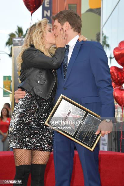 Luisana Lopilato and Michael Bublé attend Warner Bros Recording artist Michael Bublé's Star Ceremony on The Hollywood Walk of Fame on November 16...