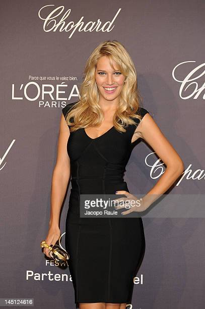 Luisana Lopilato attend the Chopard and L'Oreal Party during the 65th Annual Cannes Film Festival at Palais des Festivals on May 23 2012 in Cannes...