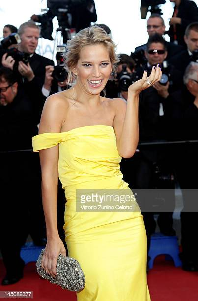 Luisana Lopilato attends the On The Road Premiere during the 65th Annual Cannes Film Festival at Palais des Festivals on May 23 2012 in Cannes France