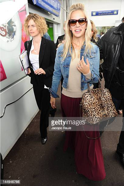 Luisana Lopilato is seen arriving at Nice Airport durign 65th Cannes Film Festival on May 21 2012 in Nice France