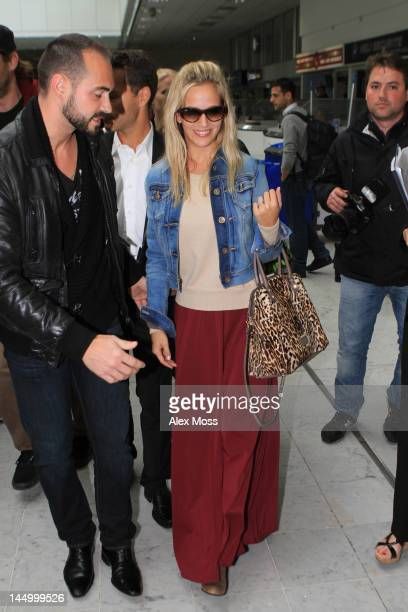 Luisana Lopilato is Seen Arriving At Nice Airport on May 21 2012 in Cannes France