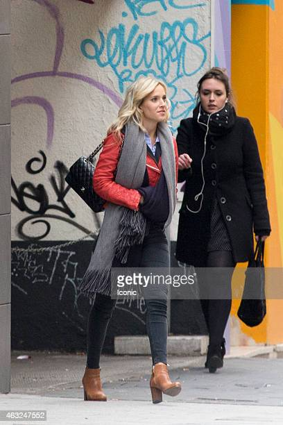 Luisana Lopilato is seen greeting fans on February 12 2015 in Madrid Spain