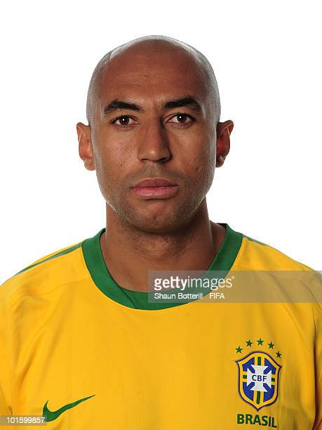 Luisao of Brazil poses during the official FIFA World Cup 2010 portrait session on June 3 2010 in Johannesburg South Africa