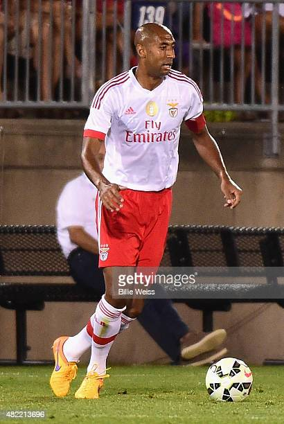 Luisao of SL Benfica in action during an International Champions Cup 2015 match against ACF Fiorentina at Rentschler Field on July 24 2015 in East...