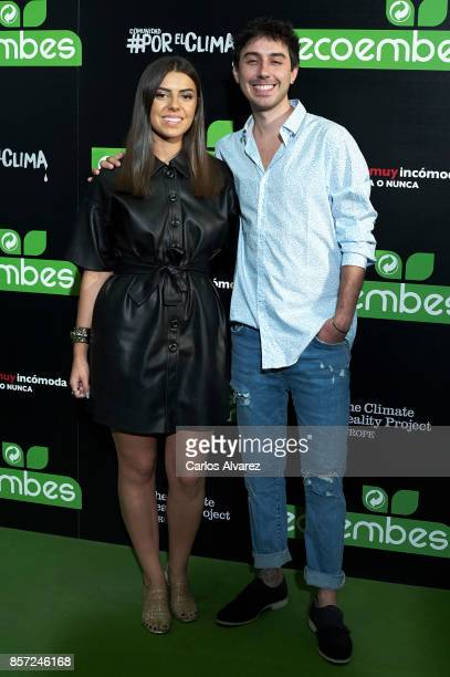 Luisber Santiago and Paula Cendejas attend 'An Inconvenient Sequel Truth to Power' premiere at the Callao cinema on October 3 2017 in Madrid Spain
