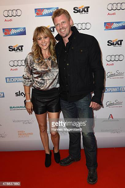Luise Baehr and Martin Gruber attend the Audi Director's Cut at the Praterinsel during the Munich Film Festival at Praterinsel on June 27 2015 in...