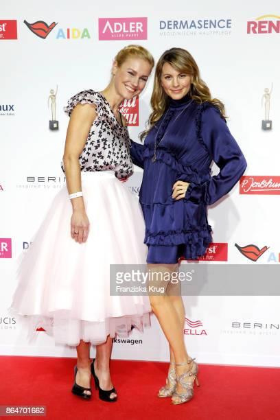 Luise Baehr and Rhea Harder attend the 'Goldene Bild der Frau' award at Hamburg Cruise Center on October 21 2017 in Hamburg Germany