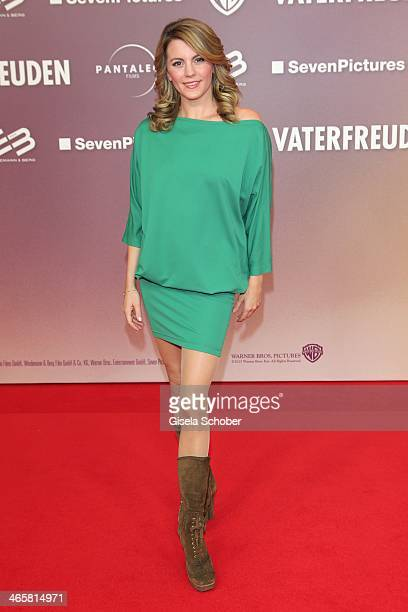 Luise Baehr attends the premiere of the film 'Vaterfreuden' at Mathaeser Filmpalast on January 29 2014 in Munich Germany