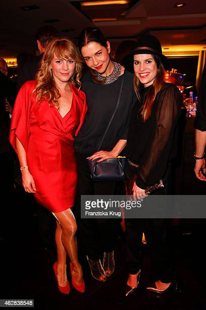 Luise Baehr guest and Perri Baumeiser attend the 'Berlin Opening Night Of Gala Ufa Fiction on February 05 2015 in Berlin Germany