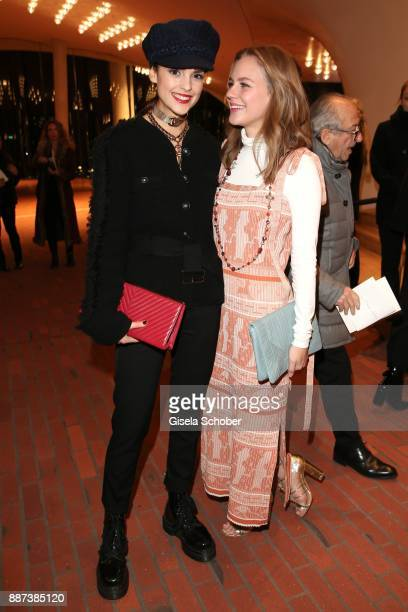 Luise Befort and Alicia von Rittberg during the Chanel Trombinoscope Collection des Metiers d'Art 2017/18 photo call at Elbphilharmonie on December 6...