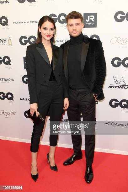 Luise Befort and Eugen Bauder arrive for the 20th GQ Men of the Year Award at Komische Oper on November 8 2018 in Berlin Germany