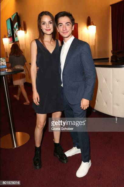 Luise Befort and Ivo Kortlang during the premiere of the movie 'Ella's Baby' during the film festival Munich at Gloria Palast on June 26 2017 in...