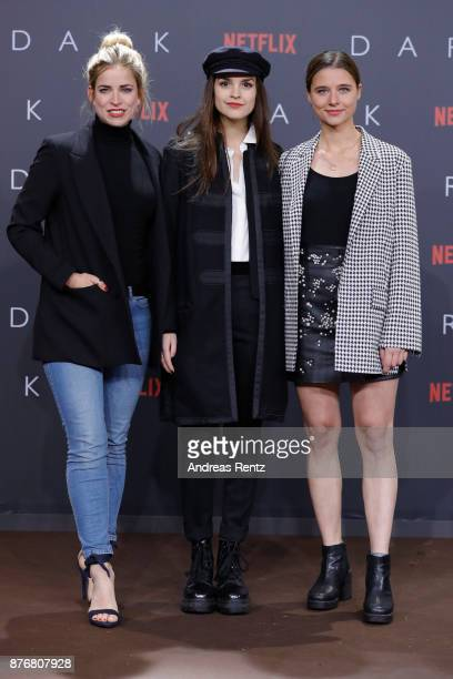 Luise Befort and Svenja Jung attend the premiere of the first German Netflix series 'Dark' at Zoo Palast on November 20 2017 in Berlin Germany