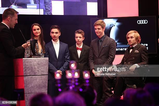 Luise Befort, Ivo Kortland, Nick Julius Schuck, Timur Bartels - Club der roten Baender - and Samuel Koch during the 10th Audi Generation Award 2016...