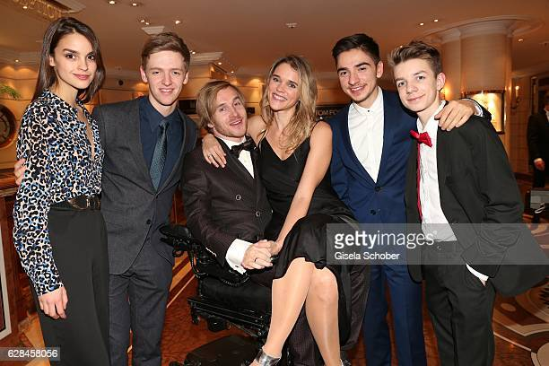 Luise Befort, Timur Bartels, Samuel Koch and his wife Sarah Koch , Ivo Kortland and Nick Julius Schuck - Club der roten Baender - during the 10th...